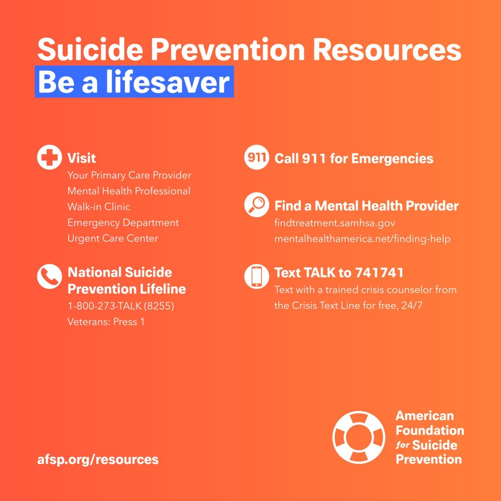AFSP Suicide Prevention Infographic